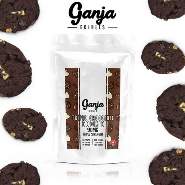 Buy Ganja Baked Triple Chocolate Cookie 90MG online Canada