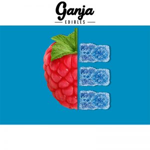 Buy Ganja Edibles – Sour Raspberry Gummy Bears 150MG online Canada