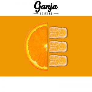 Buy Ganja Edibles – Sour Orange Gummy Bears 150MG online Canada