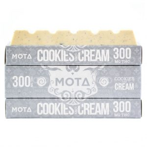 Buy MOTA – Cookies & Cream Chocolate Bar (300MG) online Canada