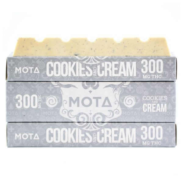 Buy MOTA – Cookies & Cream Chocolate Bar (300MG) online Canada