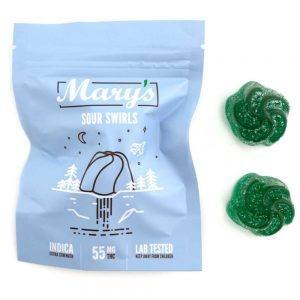 Buy Mary's Sour Swirls (55MG THC Extra Strength, Indica) online Canada