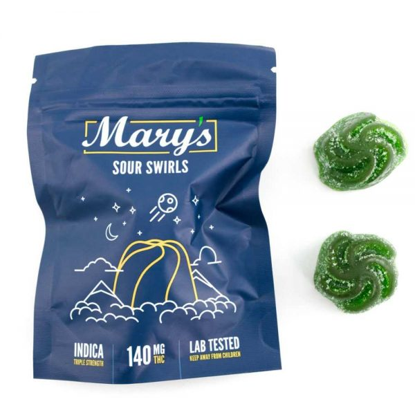 Buy Mary's Sour Swirls (140MG THC Triple Strength, Indica) online Canada
