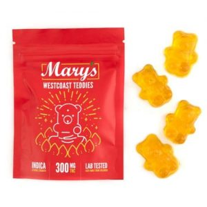 Buy Mary's West Coast Teddies (300MG THC Extreme Strength, Indica) online Canada