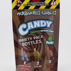 Buy HERBIVORE EDIBLES – Variety Pack Bottles (150MG THC) online Canada