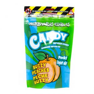 Buy HERBIVORE EDIBLES – Buzzy Peaches (150MG THC) online Canada