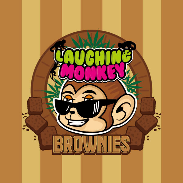 Buy LAUGHING MONKEY CHOCOLATE FUDGE BROWNIE (600MG) online Canada